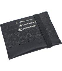 carteira mini bennemann  tokyo em couro preta - multicolorido/preto - masculino - dafiti