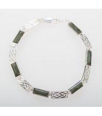 connemara marble celtic link bracelet