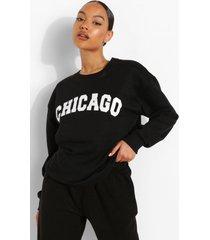 chicago sweater, black