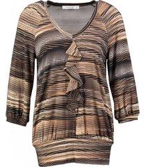 amania stevig zacht stretch shirt 3/4 mouw