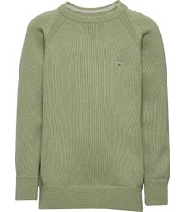 casual cotton crew pullover groen gant