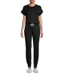 splendid women's super soft jumpsuit - black - size s