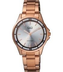 reloj para dama elegante q&q qb47j001y  oro rosa