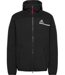 mens tennis zne hoodie hoodie trui zwart adidas performance