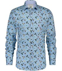 a fish named fred 20.02.033 shirt colorful birds blue multicolor - blauw