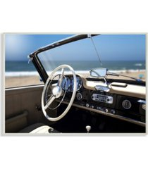 "stupell industries long beach vintage-inspired car wall plaque art, 12.5"" x 18.5"""