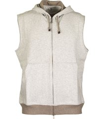 brunello cucinelli sweatshirt vest grey