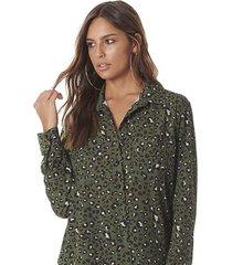 kimono serinah brand animal print verde