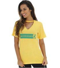 camiseta copa américa 2019 garotas - feminina - amarelo