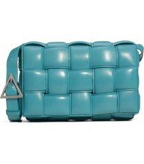 bottega veneta padded cassette bag - blue