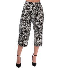 womens saga leopard print culotte trousers