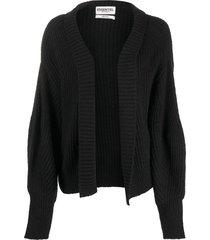 essentiel antwerp veronika open-front cardigan - black