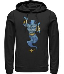 disney men's aladdin all powerful genie, pullover hoodie