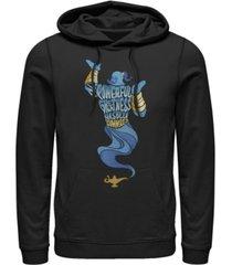 disney men's aladdin all powerful genie, pullover hoodie