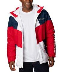 columbia men's hazel deli colorblocked hooded jacket