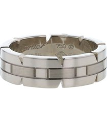 cartier 2000s pre-owned white gold tank ring