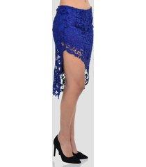 falda slit de mujer exotik ew173-1115-775 azul