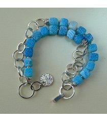 -niebieskie agaty-bransoletka-