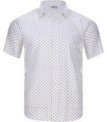 camisa estampada simbolos color blanco, talla s