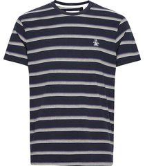 multi colour stripe t-shirt t-shirts short-sleeved blå original penguin