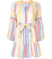 lemlem striped belted beach dress - multicolour