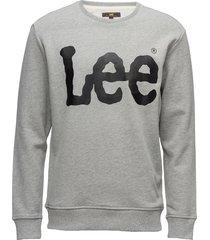 logo sws sweat-shirt trui grijs lee jeans