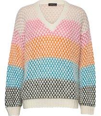 jodi, 964 moss knit stickad tröja multi/mönstrad stine goya