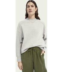 scotch & soda langere sweater van een katoenmix