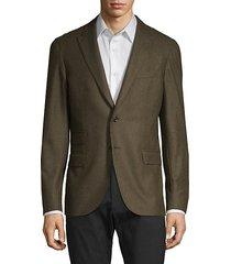 standard-fit wool, silk & cashmere-blend blazer
