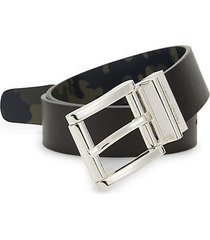 camouflage faux leather reversible belt