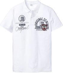 polo a maniche corte con stampa (bianco) - john baner jeanswear