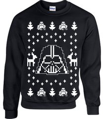 darth vader ugly christmas sweater star wars unisex crew sweatshirt b119