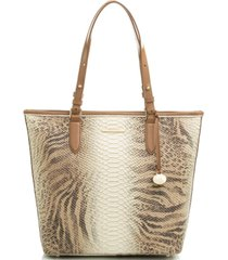 brahmin asher delancey embossed leather tote