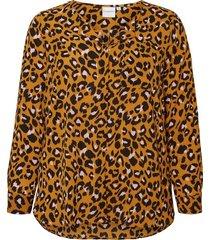 blouse geweven luipaard