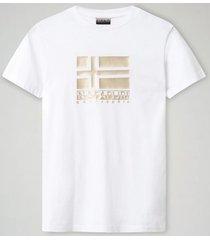 napapijri t-shirt women shyamoli bright white-xs