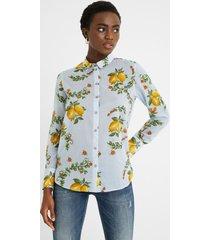 cotton shirt lemons - blue - xxl