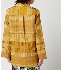 baum und pferdgarten women's buyu shirt - golden palm - eu 40/uk 12