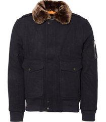 schott dark navy aircrew jacket aircrw