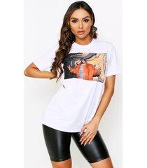 biggie photo print oversized t-shirt, white
