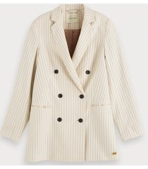 scotch & soda double-breasted blazer met krijtstreep