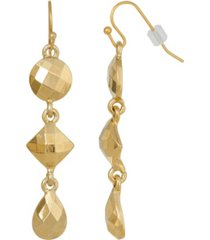 2028 gold-tone linear drop earring