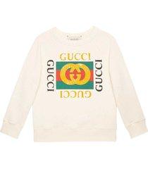 gucci white teen sweatshirt
