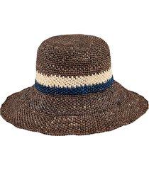 women's san diego hat crochet sun hat - brown