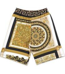 baroque printsweat shorts