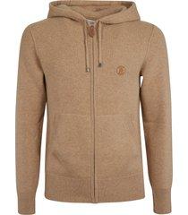 burberry classic zipped hoodie