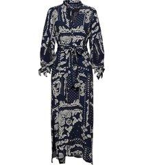 d2. paisley dress maxiklänning festklänning blå gant