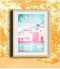 hiszpania - vintage plakat 50x70 cm