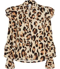 leo frill blouse