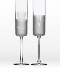 rolf glass wedding cheers series 2 (dress/tux) flute 5.75oz - gift box set of 2