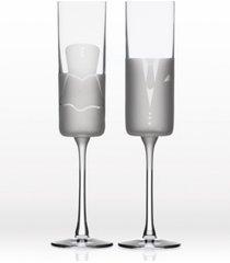 rolf glass wedding cheers series 2 (dress/tux) flute 5.75oz - gift box set of 2
